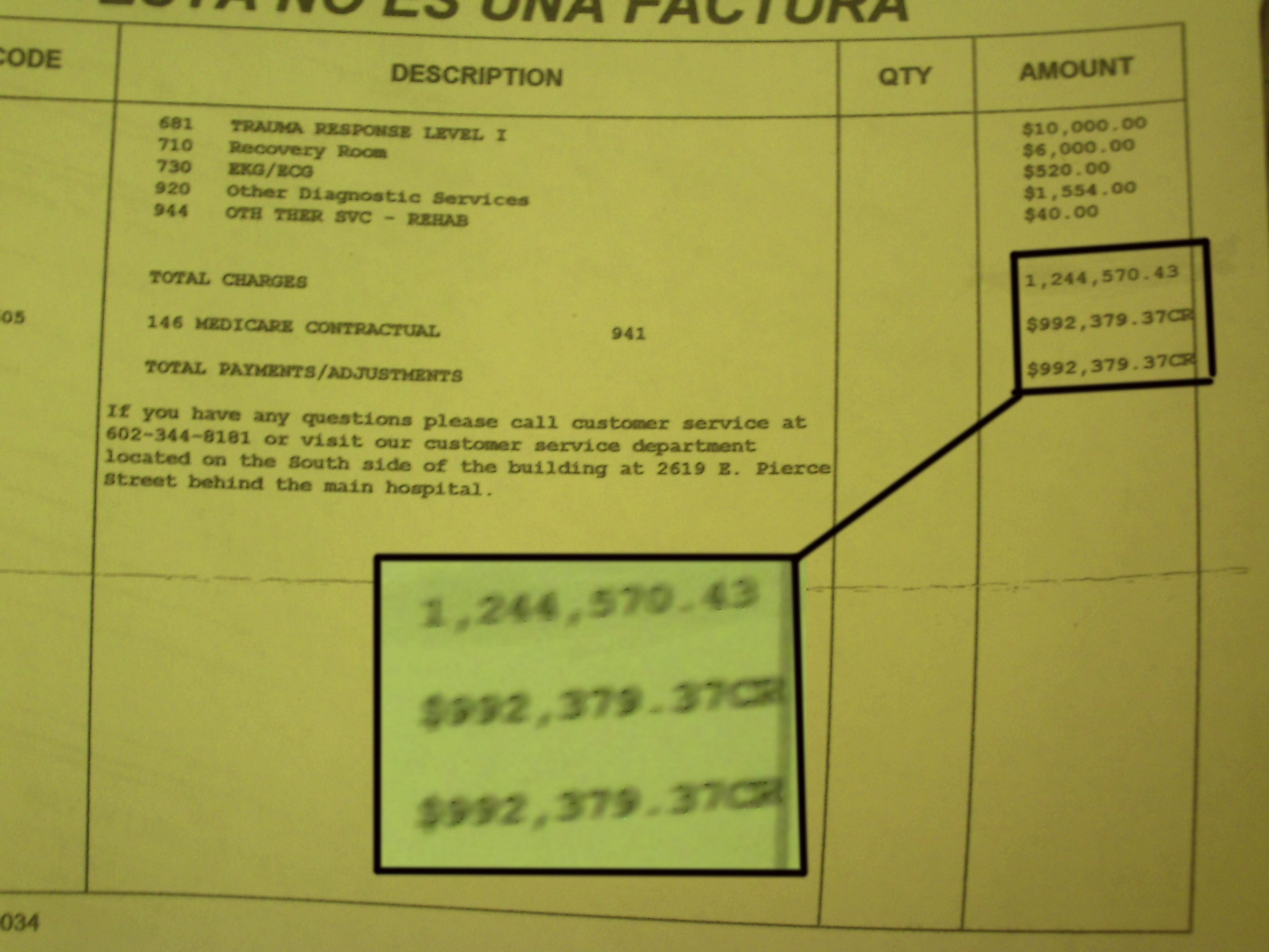 Friends Million Dollar Medical Bill